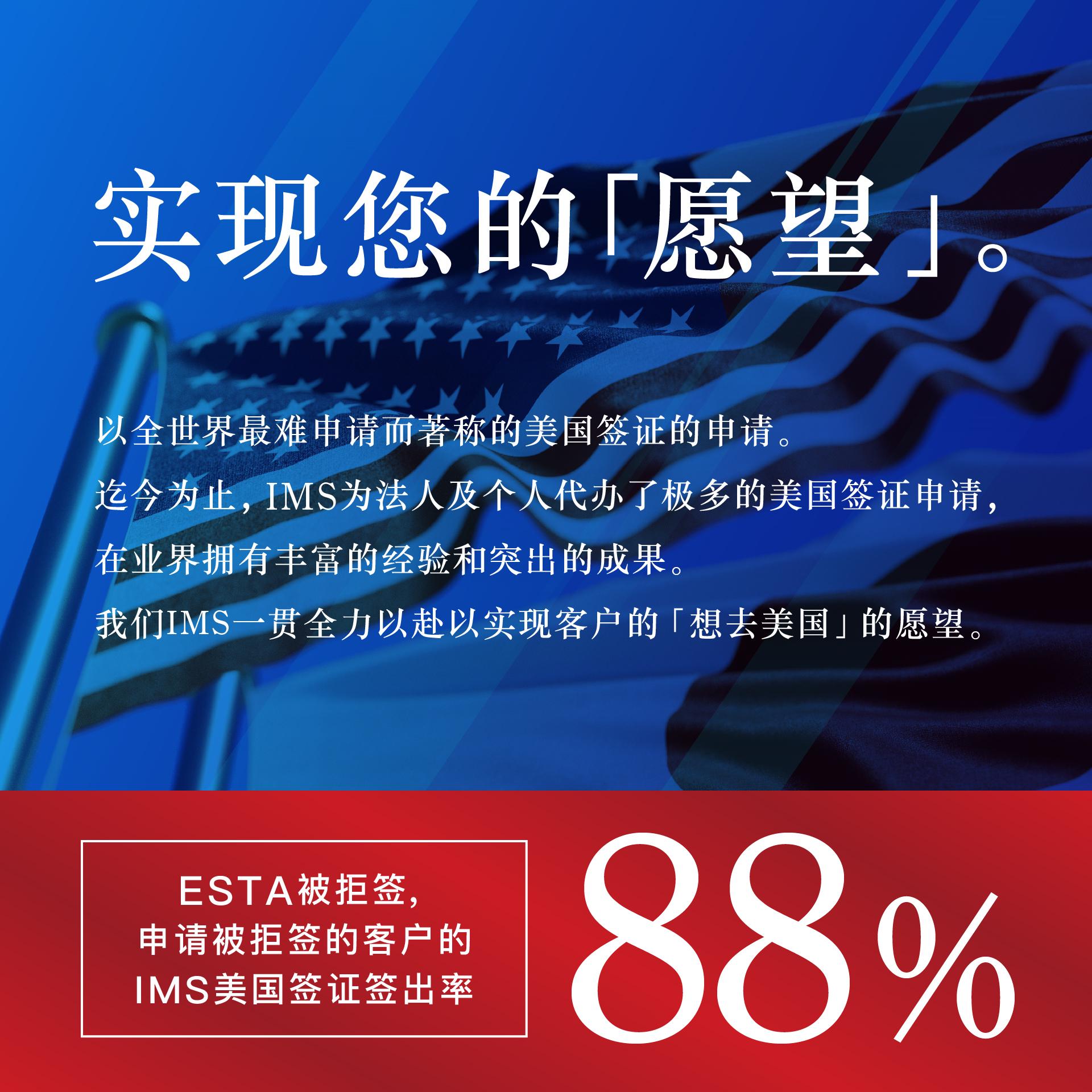ESTA被拒绝,申请被拒签的客户的美国签证签出率高达88%